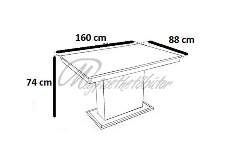 Flóra asztal (6 személyes)