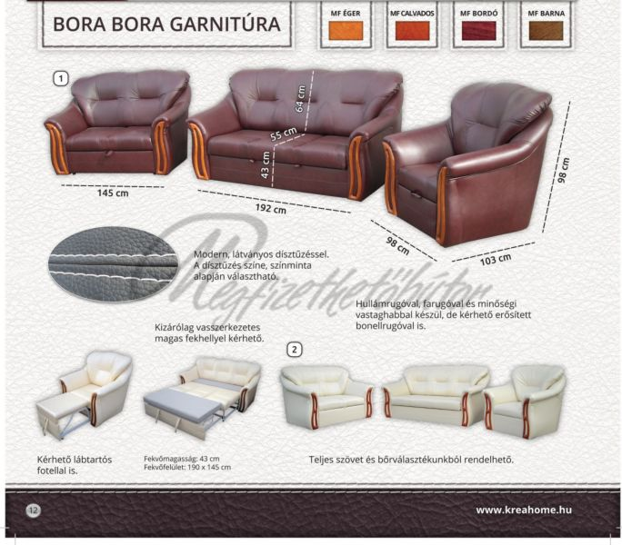 Bora-Bora garnitúra 3+2+1 2-es ágyneműtartós