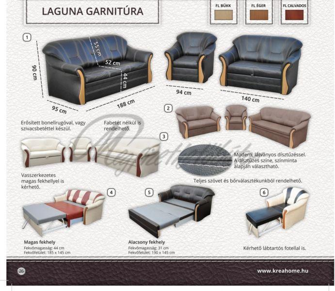 Laguna garnitúra 3+2+1  2-es ágyneműtartós