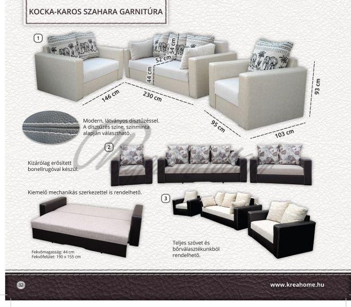 Szahara kocka/kerek-karos fotel