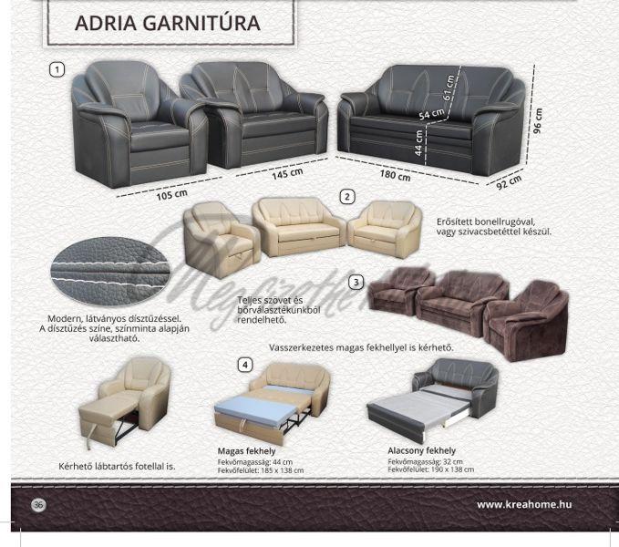 Adria 2-es elem ágyneműtartós
