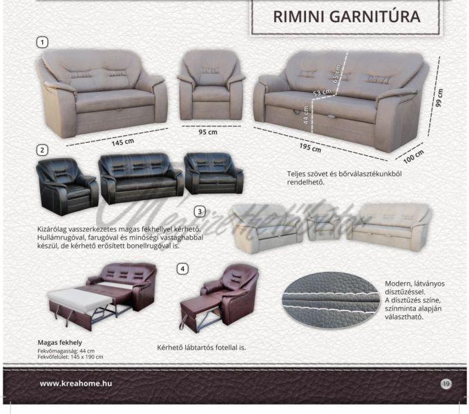 Rimini 3+2+1 garnitúra 2-es ágyneműtartós