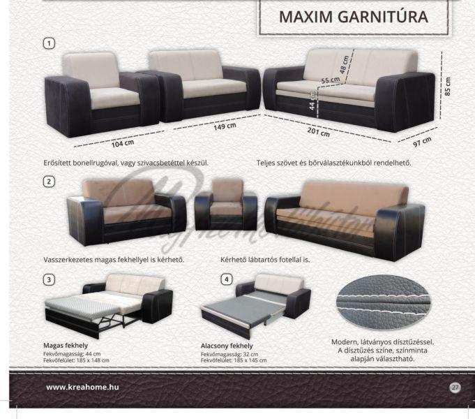 Maxim 3+1+1 garnitúra