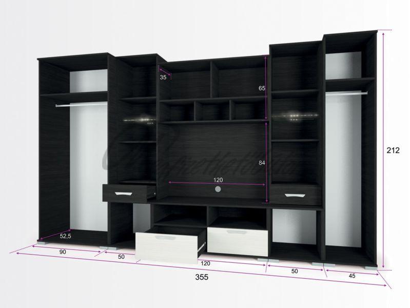 Basel szekrénysor 355 cm