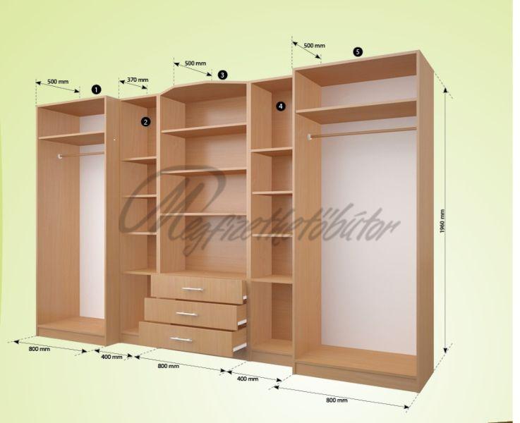 Viktória 5 elemes szekrénysor