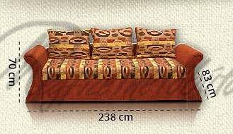 Kétkaros Dorka kanapé