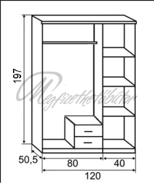 rc sn gardr b 120 cm 56 379 ft megfizethet b tor orsz gos h zhoz sz ll t s. Black Bedroom Furniture Sets. Home Design Ideas