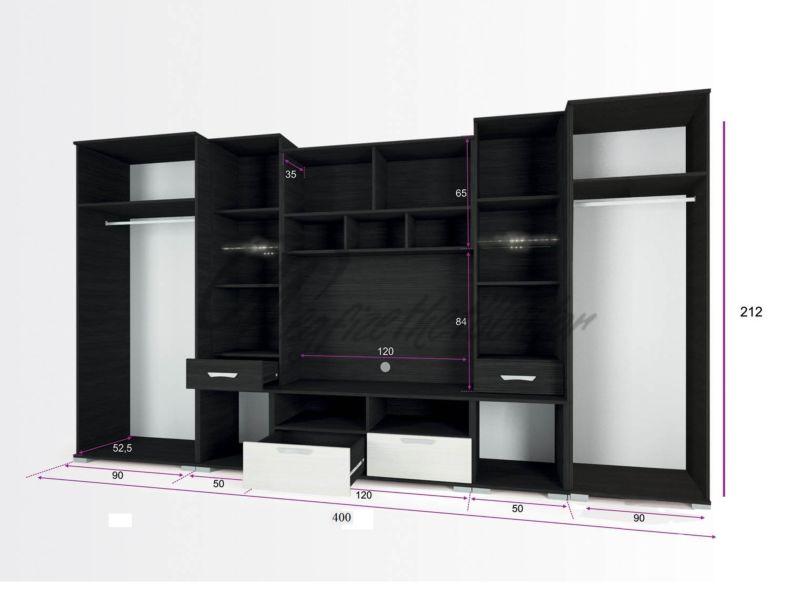 Basel szekrénysor 400 cm