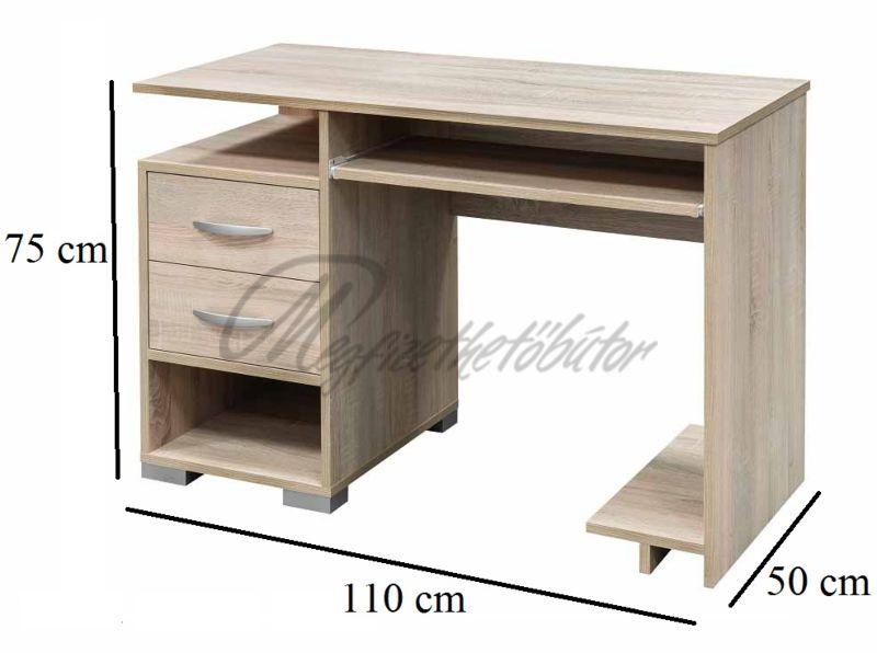 Andorra 2 fiókos számítógépasztal