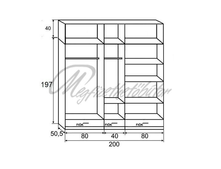 zeus gardr b 200 cm 102 686 ft megfizethet b tor orsz gos h zhoz sz ll t s. Black Bedroom Furniture Sets. Home Design Ideas