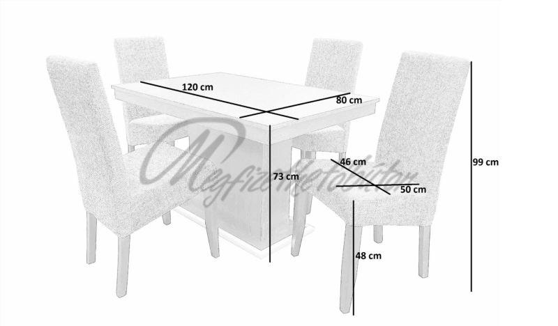 Berta étkező Flóra asztallal (4 személyes)