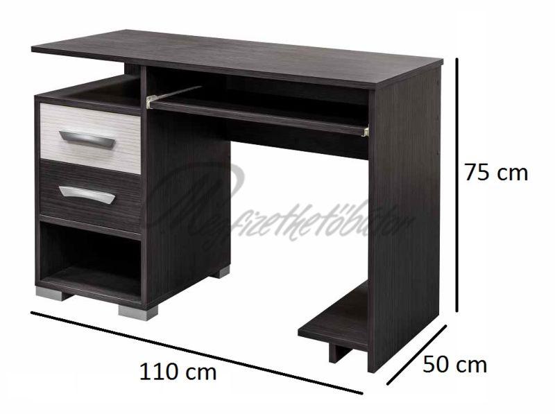 Basel 2 fiókos számítógépasztal