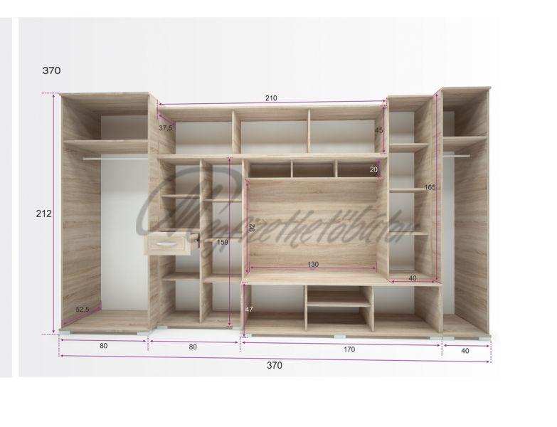 Andorra szekrénysor 370 cm