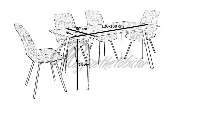 Albon asztal (6 személyes)