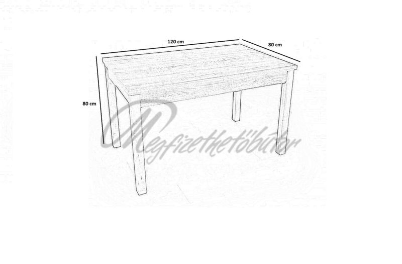 Berta asztal (4 személyes)