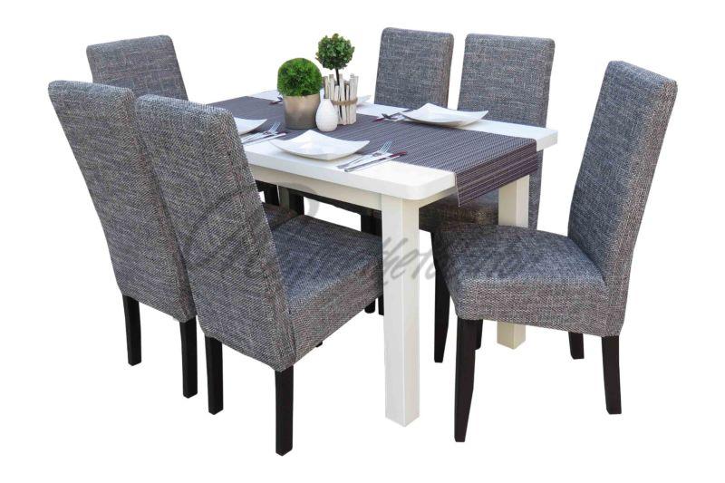 Asztal színe  Fehér Szék színe  Wenge - Világos szürke szövet 5bc30dd5da