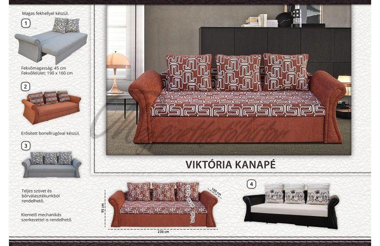 Viktória rugós kanapé