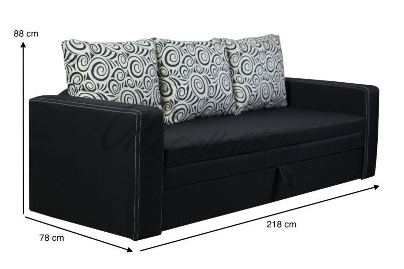 Super black kanapé