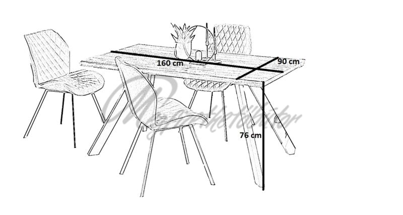 Esposito asztal ( 4 személyes )