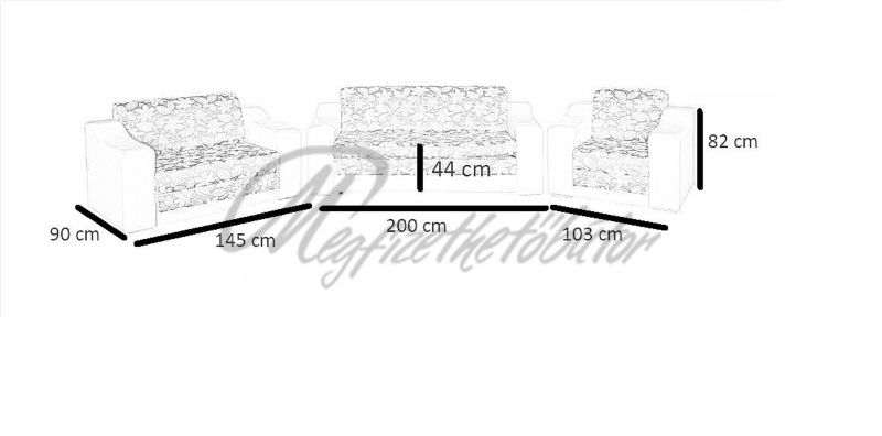 Izabell 3+2+1 2-es ágyneműtartós garnitúra