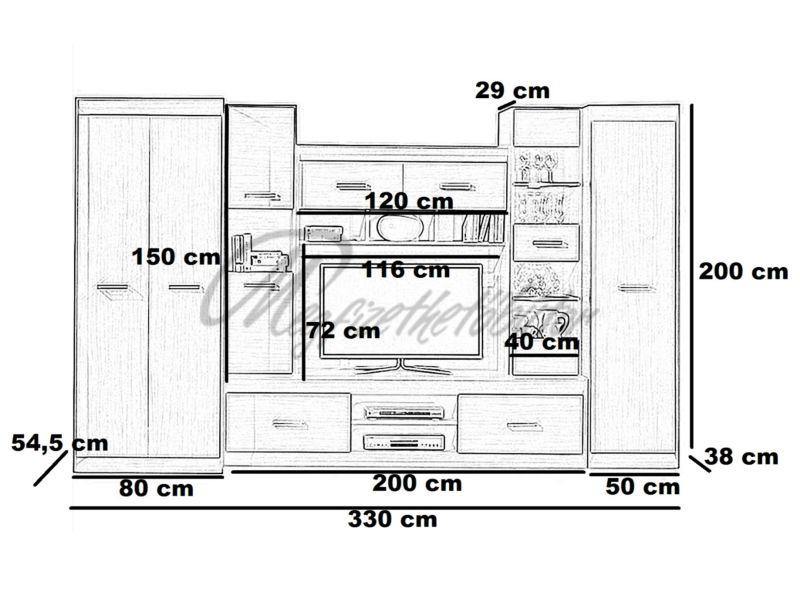 Korina szekrénysor
