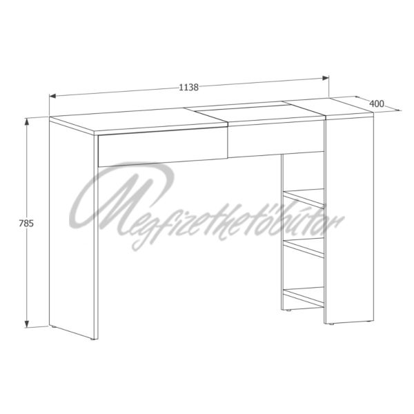 Ombre Maxi fésülködőasztal
