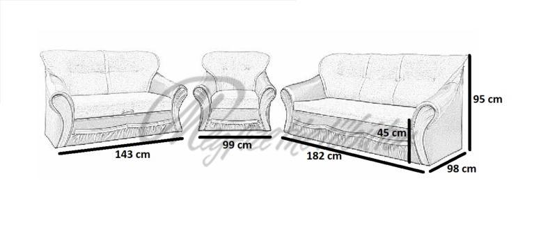 Orlandó 3+2+1 2-es ágyazható garnitúra