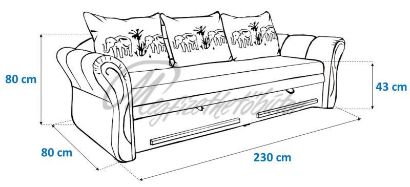 Safari hermina kanapé