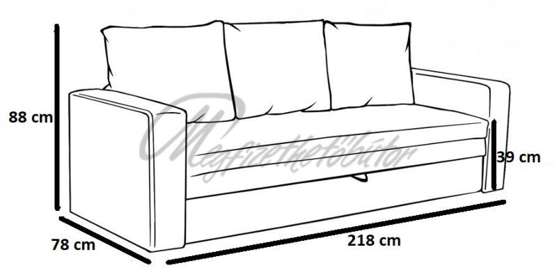 Super blue kanapé