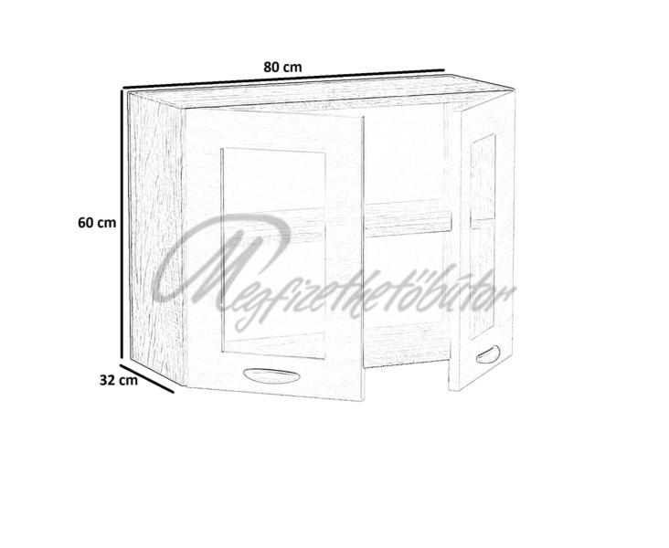 Zsófia konyha 80-as felső 2 ajtós elem (F60_80)