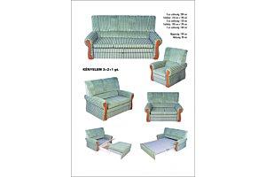 Kényelem ülőgarnitúra 2-es ágyazható elem