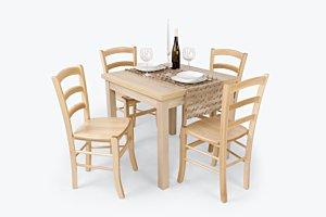 Alba étkező Berta 80-as asztallal (4 személyes)
