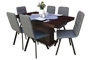 Akim étkező Flóra asztallal (6 személyes)