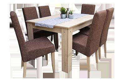 Petra étkező Félix asztallal (6 személyes)